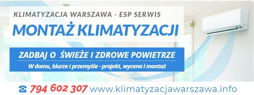 montaż klimatyzacji esp serwis Warszawa