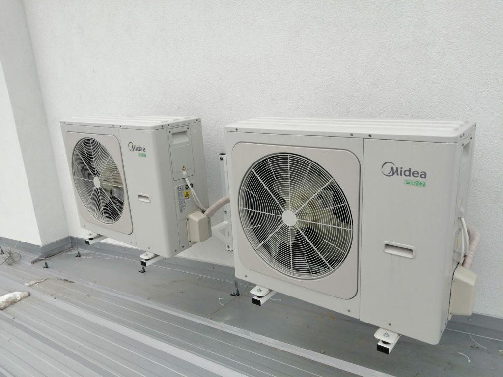 montaż pompy ciepła Midea M-Thermal